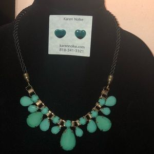 Jewelry - Beautiful Turquoise Earring and Necklace